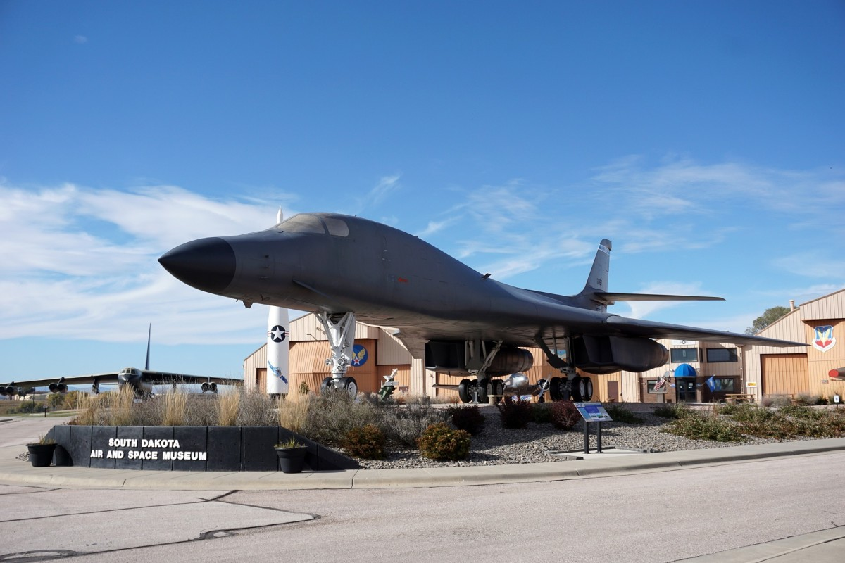 B-1 static display just about a mile from my mom and dad's house at the Ellsworth AFB, South Dakota Air and Space Museum