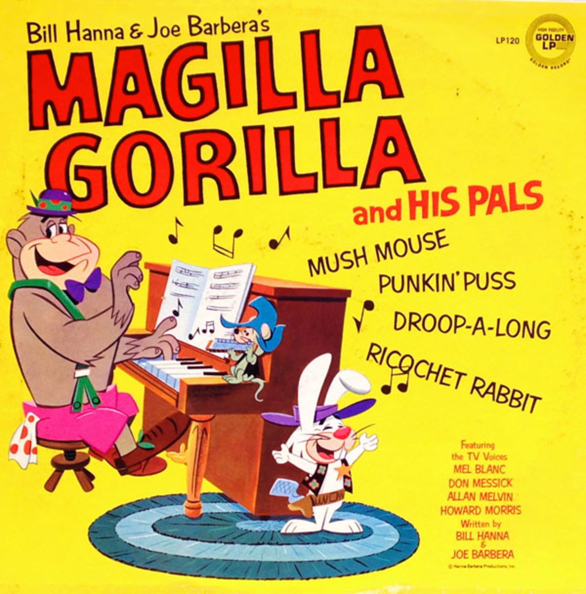 Record cover featuring the characters of the Magilla Gorilla Show.