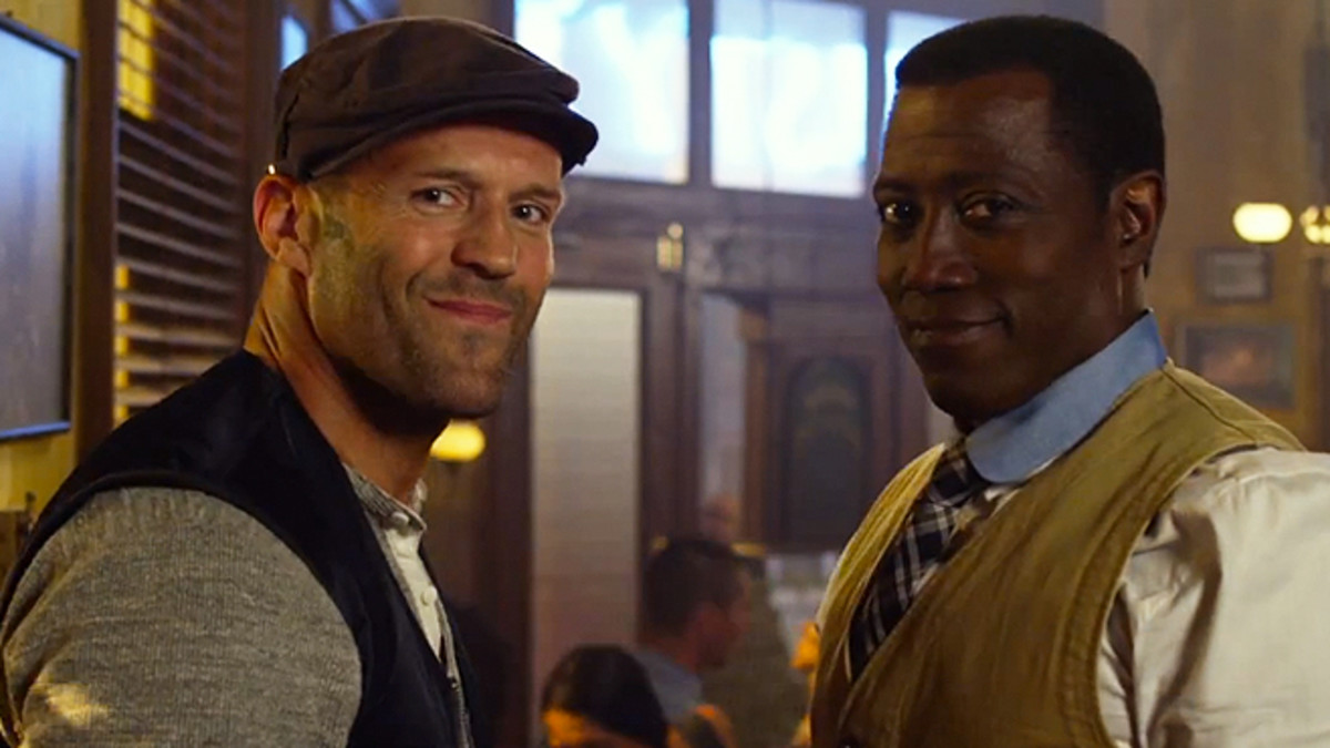 Newly-freed Wesley Snipes (right) joins the fold alongside Statham
