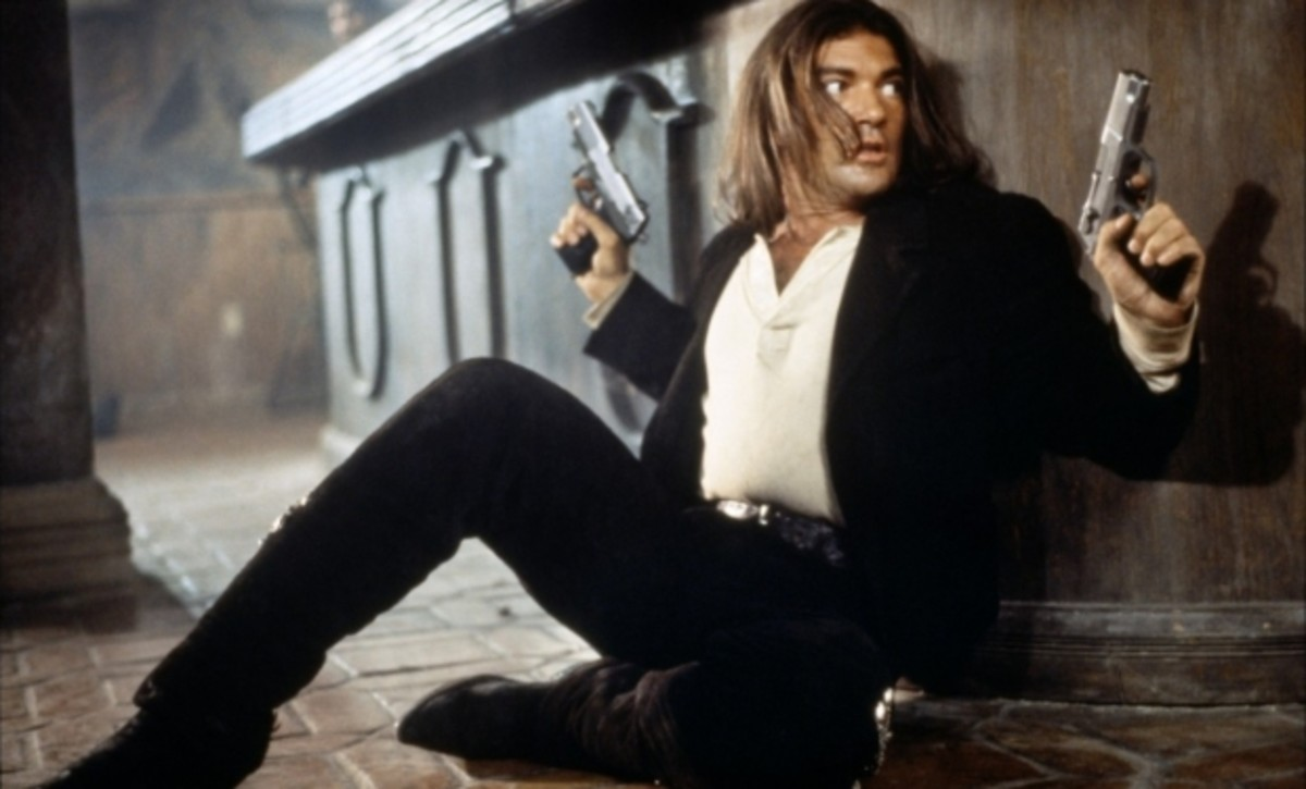 Banderas combines action with theatrics brilliantly in the shoot-outs...