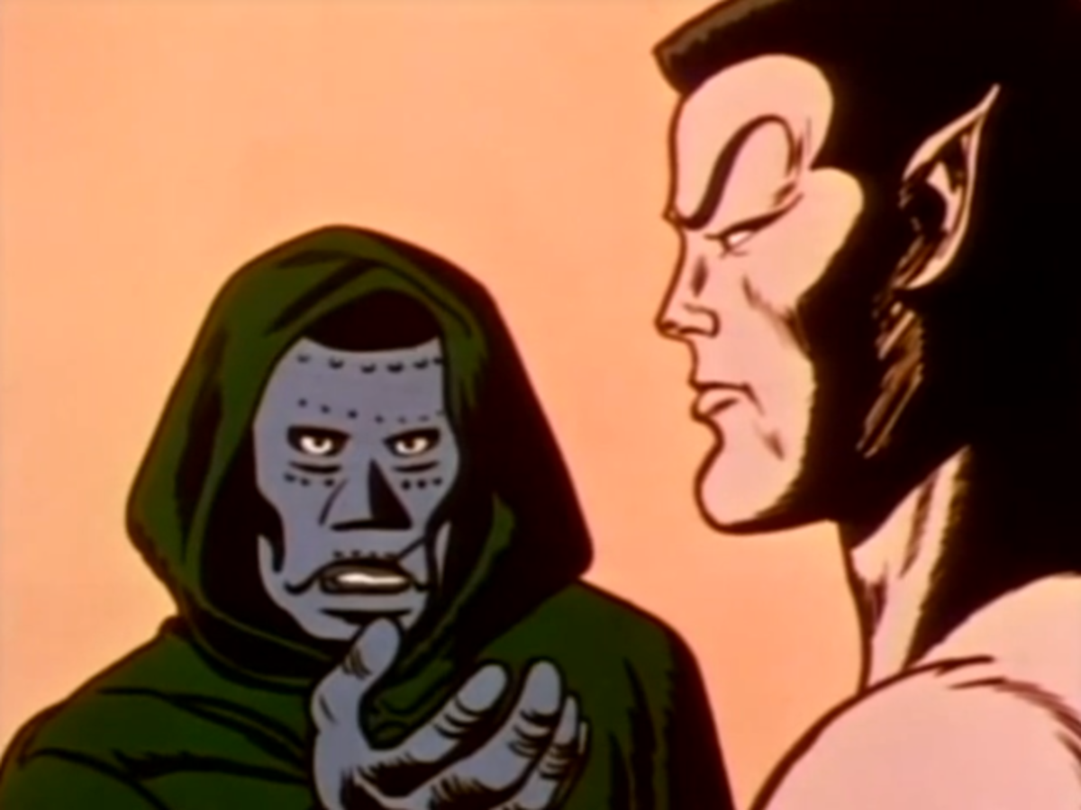 The Sub-Mariner meeting with Doctor Doom