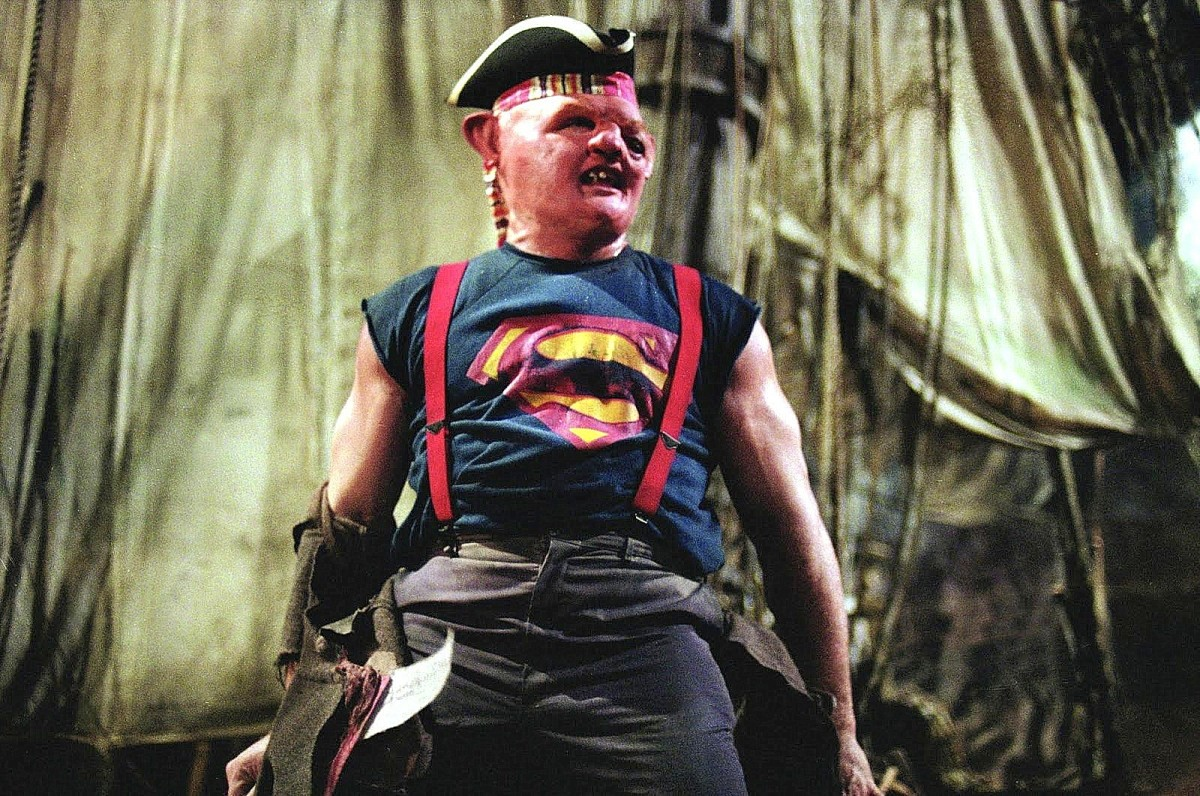Hey, you guys - former NFL player Matuszak gives a charming performance as Sloth, a role which has endured in popular culture.