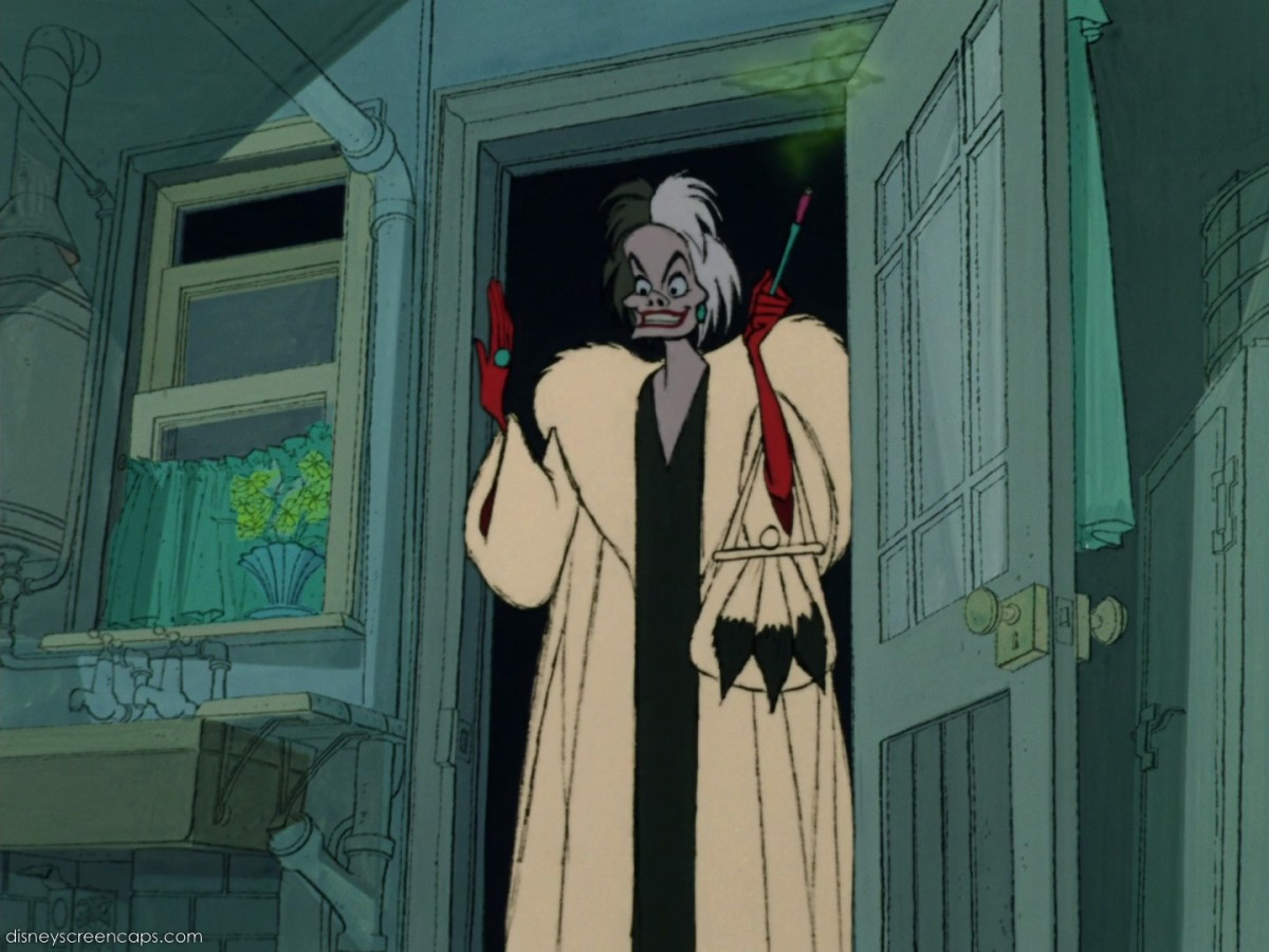 The film's true star, Cruella is a marvellous blend of sinister appearance, eye-swivelling histrionics and wicked dialogue.