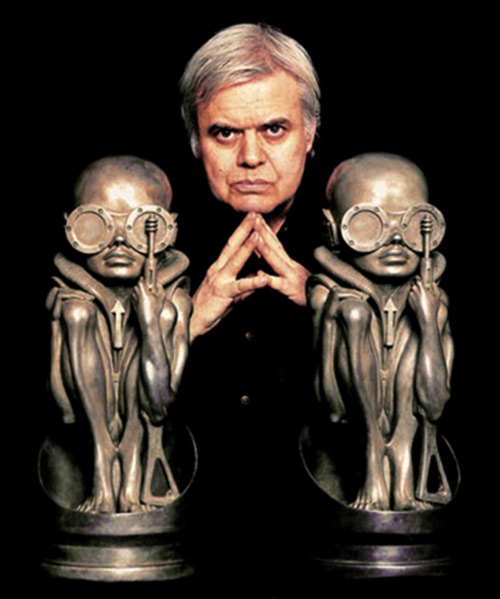 Swiss conceptual artist HR Giger designed the alien creature, one suspects, after eating lots of cheese