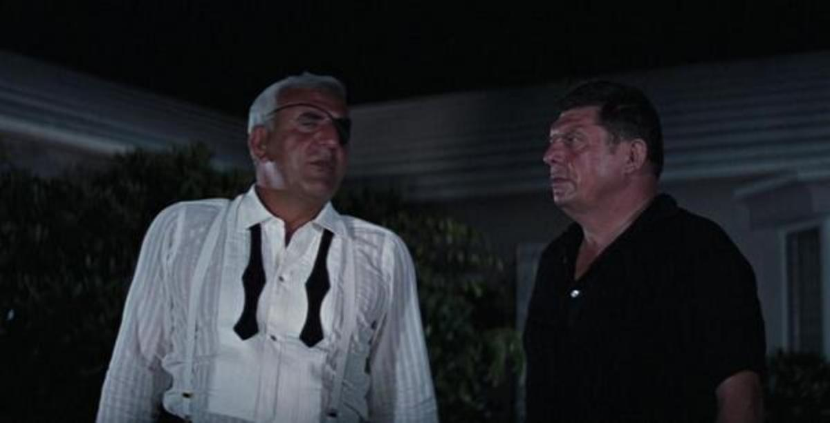 Celi (left) would go on to influence a number of villainous henchmen in other films as Largo...