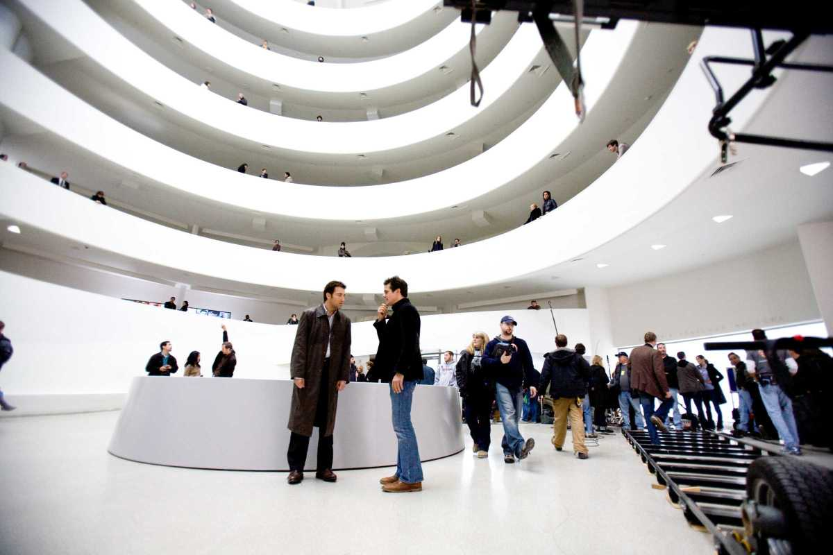 The shoot-out at the Guggenheim, the vast set seen here, is the undoubted highlight of the film and one of the best action sequences of any film in history.