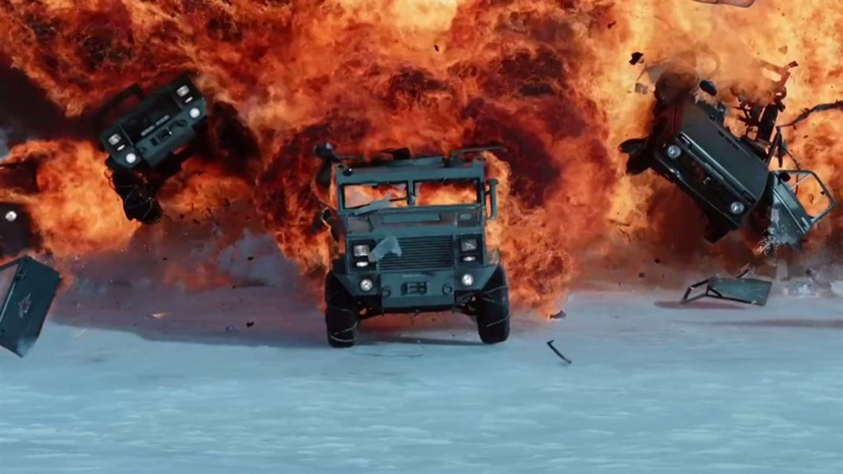 The film offers up the same explosive mix of physic-defying stunts, ridiculous plot contrivances and ultra-macho atmosphere the series has become known for.