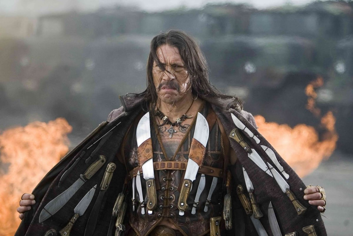 The film is Danny Trejo's first in a leading role, reinforcing the film's B-movie aspirations.
