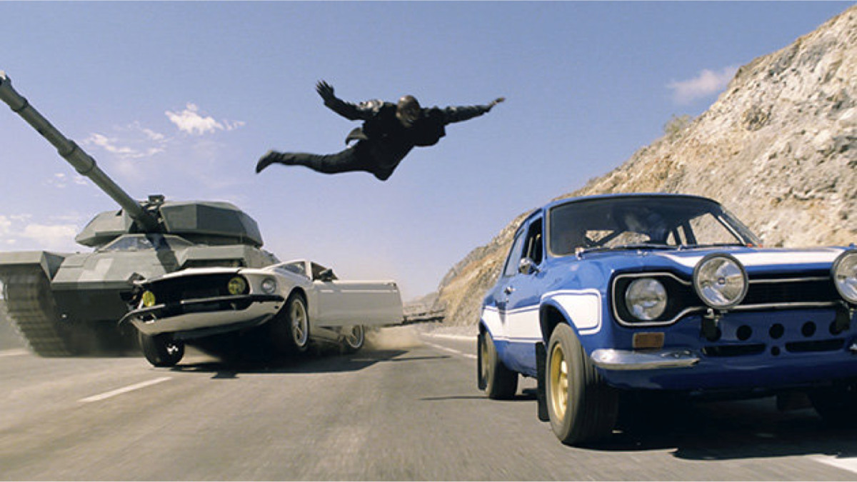 The film's trademark nitrous-fuelled action is ramped up even further with its mix of street racing, shootouts, stunt driving and fisticuffs.