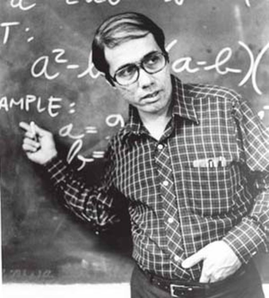 Edward James Olmos as Jaimie Escalante in the movie, Stand and Deliver.