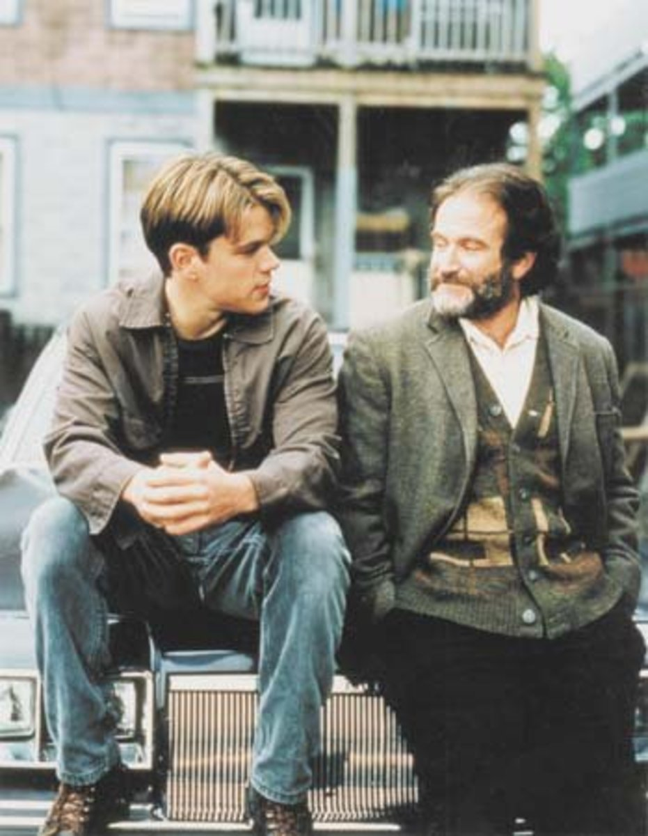 Matt Damon and Robin Williams in Good Will Hunting