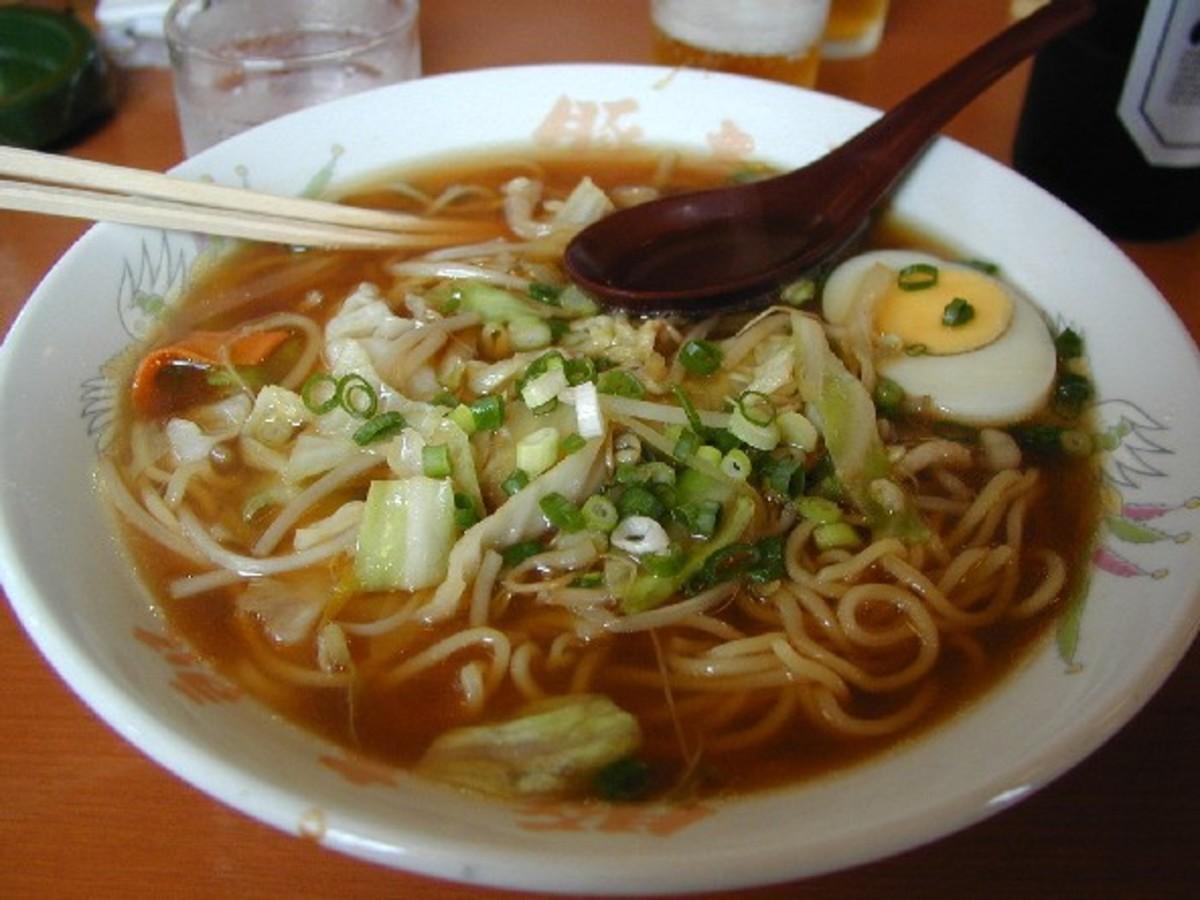 Ramyun soup Korean style