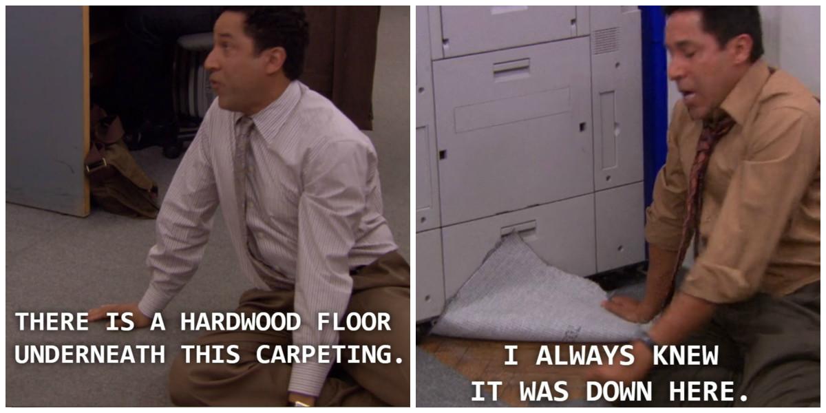 """""""Wait. Hardwood."""""""