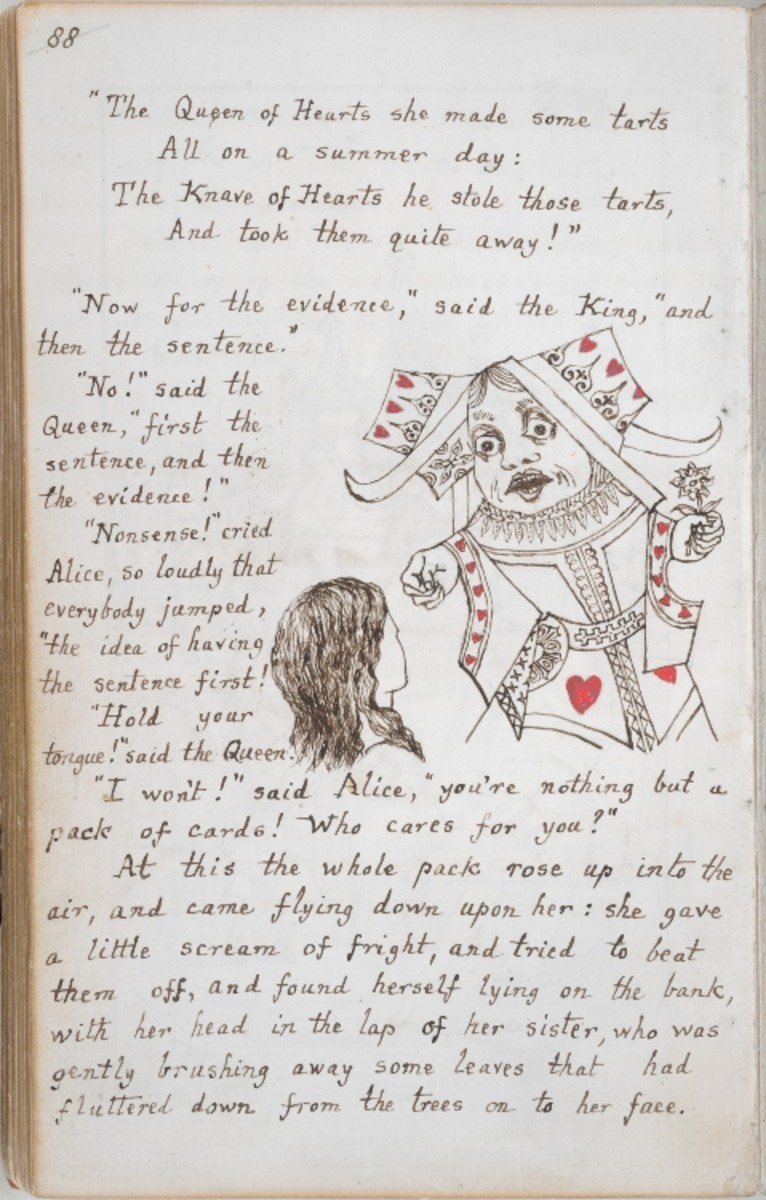 Manuscript handwritten and illustrated by Lewis Carroll
