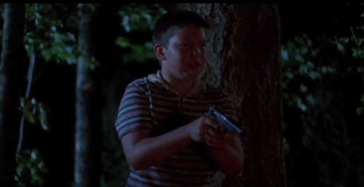 Who thought it would be a good idea to give Vern a gun?