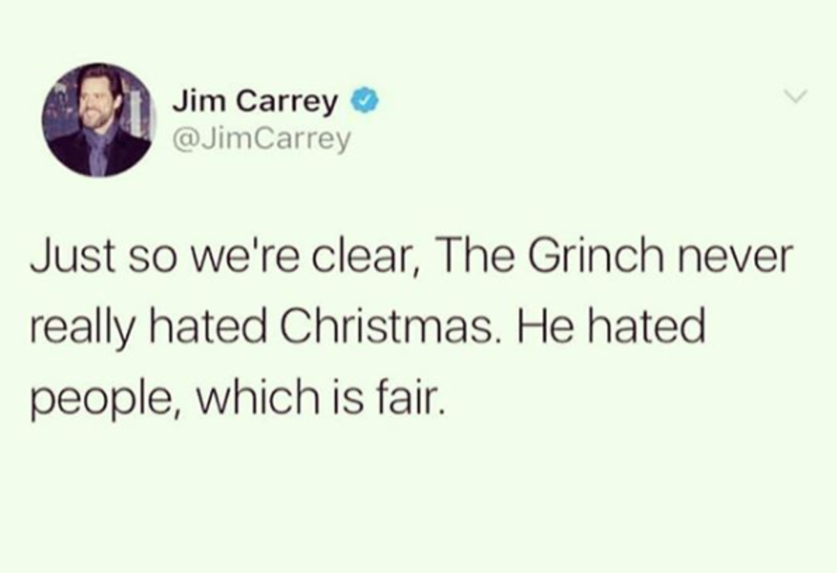 Nope. Wait. Jim Carrey corrected my ass.