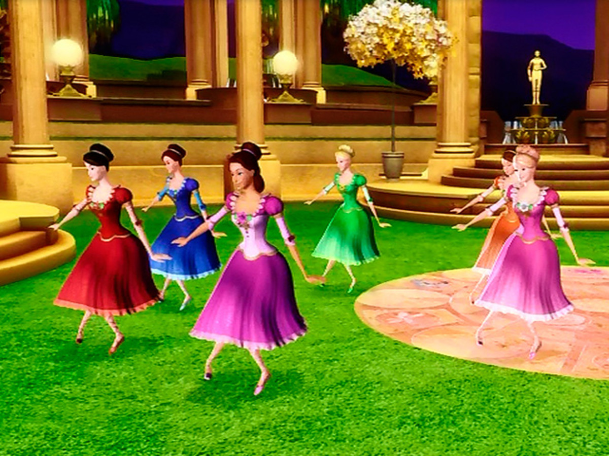 Twelve princesses dance ballet in the Secret Garden of Wishes.