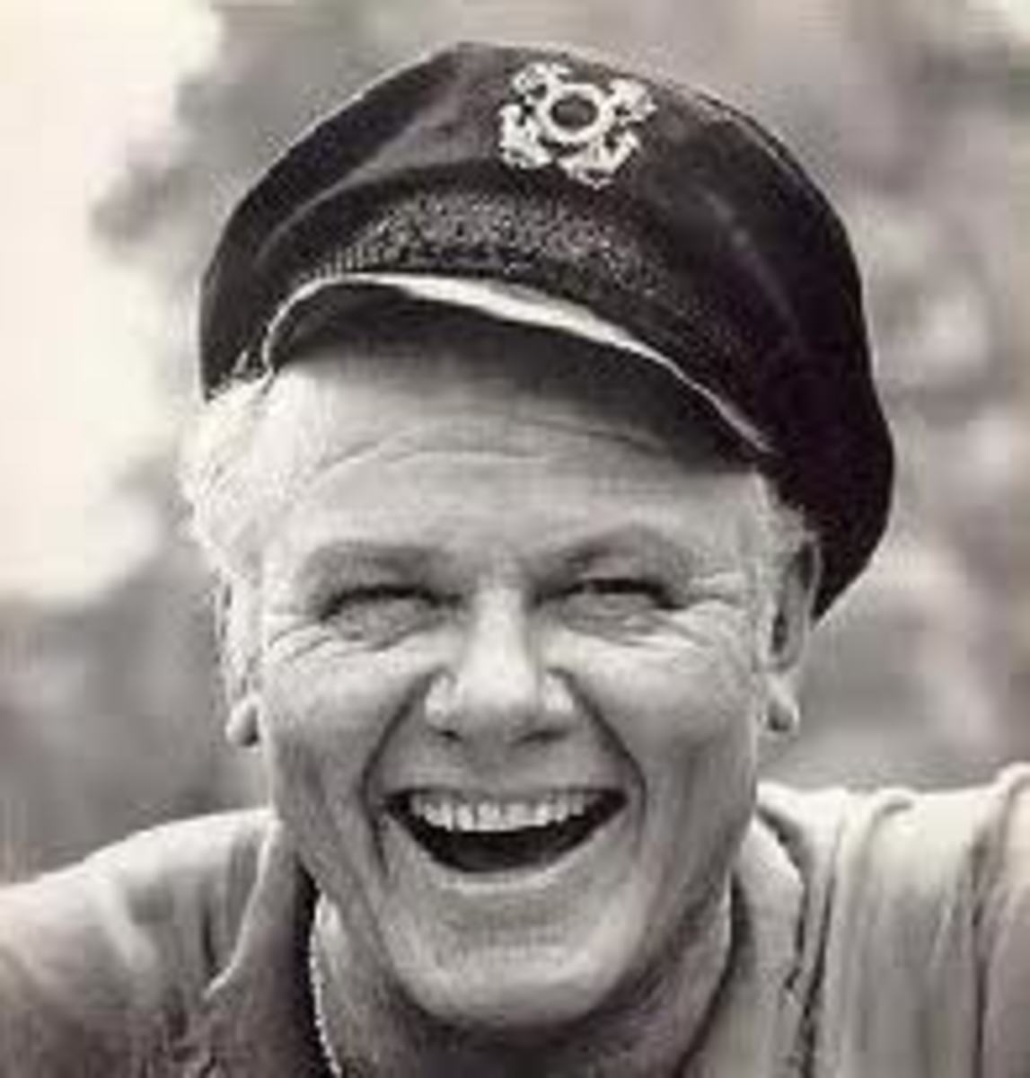 Alan Hale jr. looking as happy as ever.