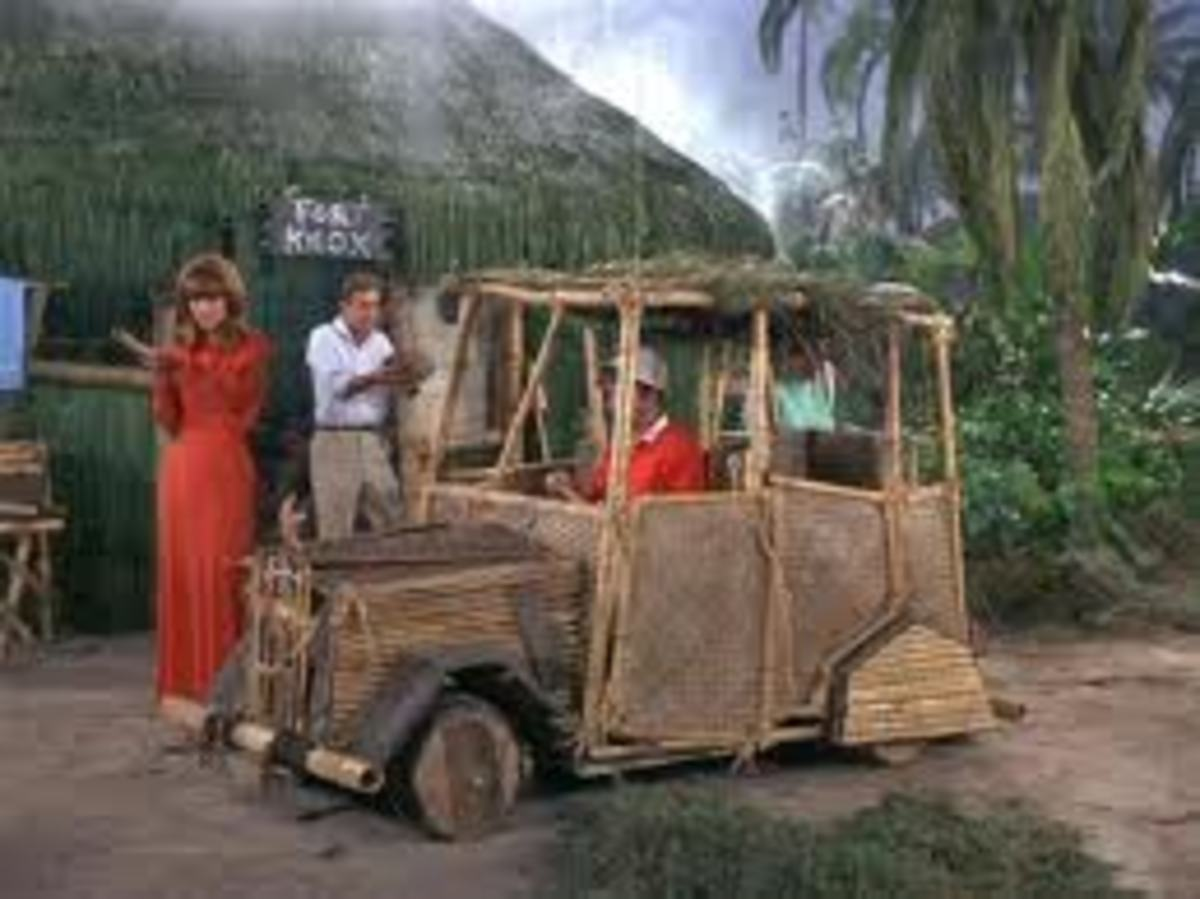 A pedal powered car, one of the cast's favorite props used for the show.