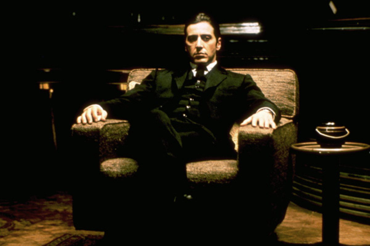 The terminally chill Michael Corleone (Al Pacino) in a still from The Godfather - The Coppola Restoration Giftset
