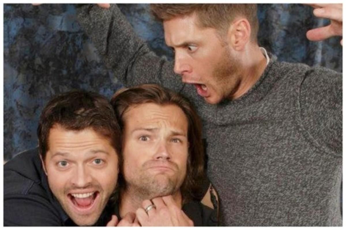 Misha, Jared, and Jensen
