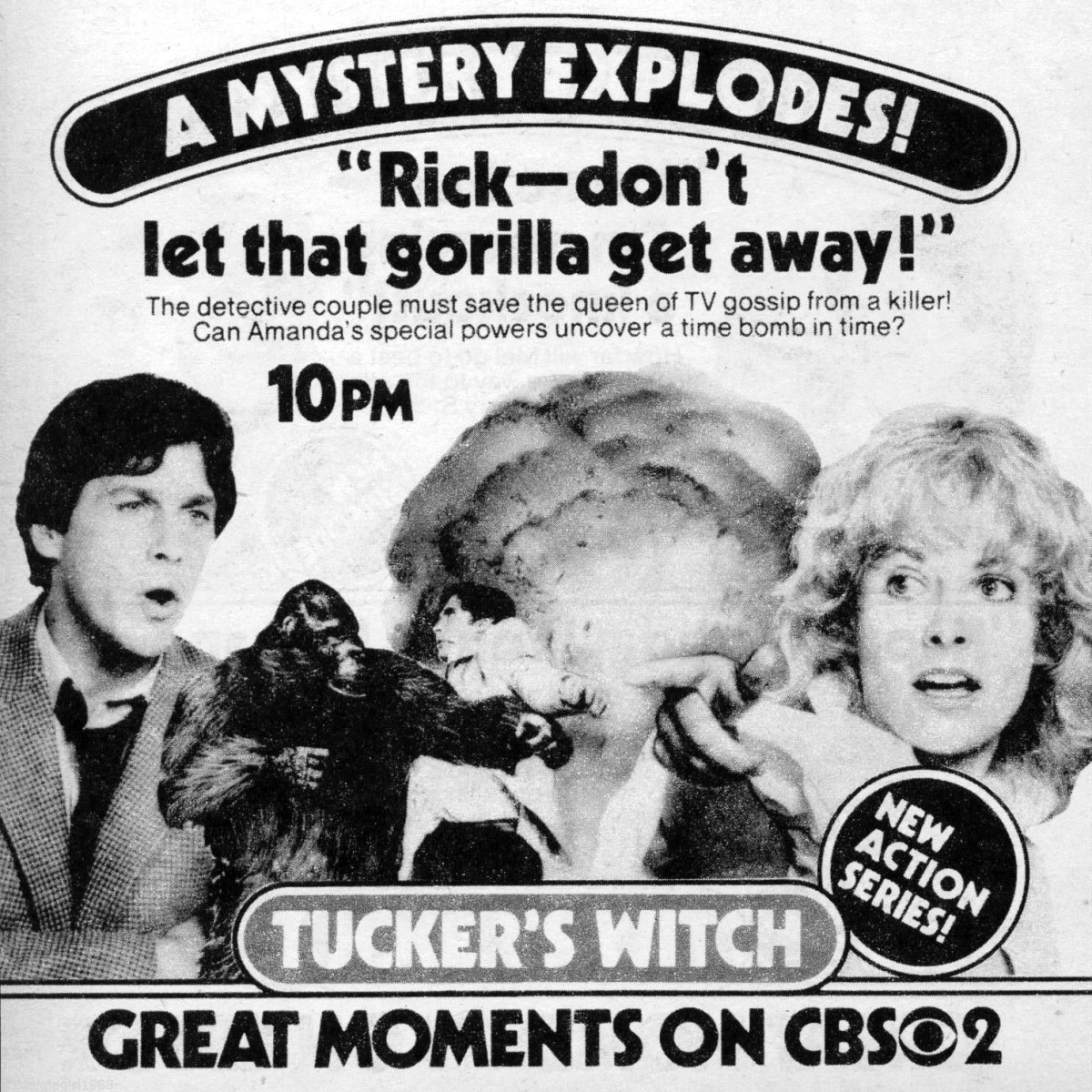Vintage TV Guide ad for Tucker's Witch