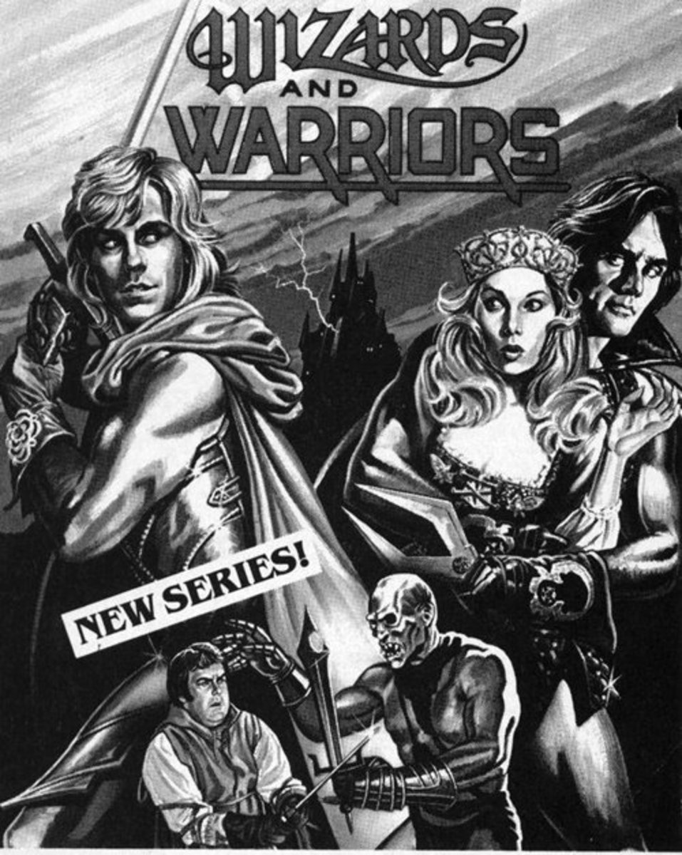 Awesome TV Guide Ad for Wizard and Warriors TV Series. Highly collectable