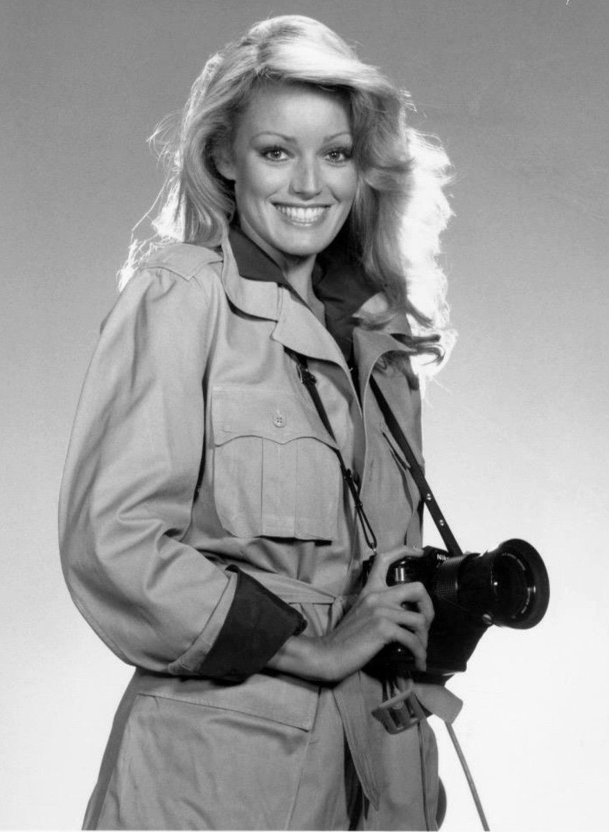Publicity shot Susan as her character Susan William in Cliffhangers