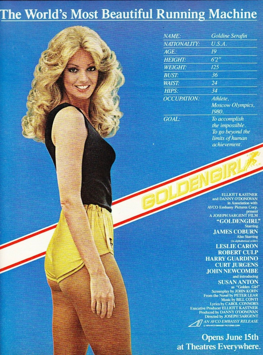 Print ad for the movie Goldengirl
