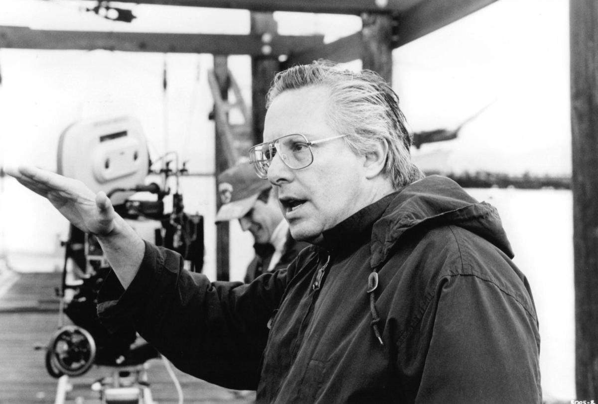 Director William Friedkin during filming