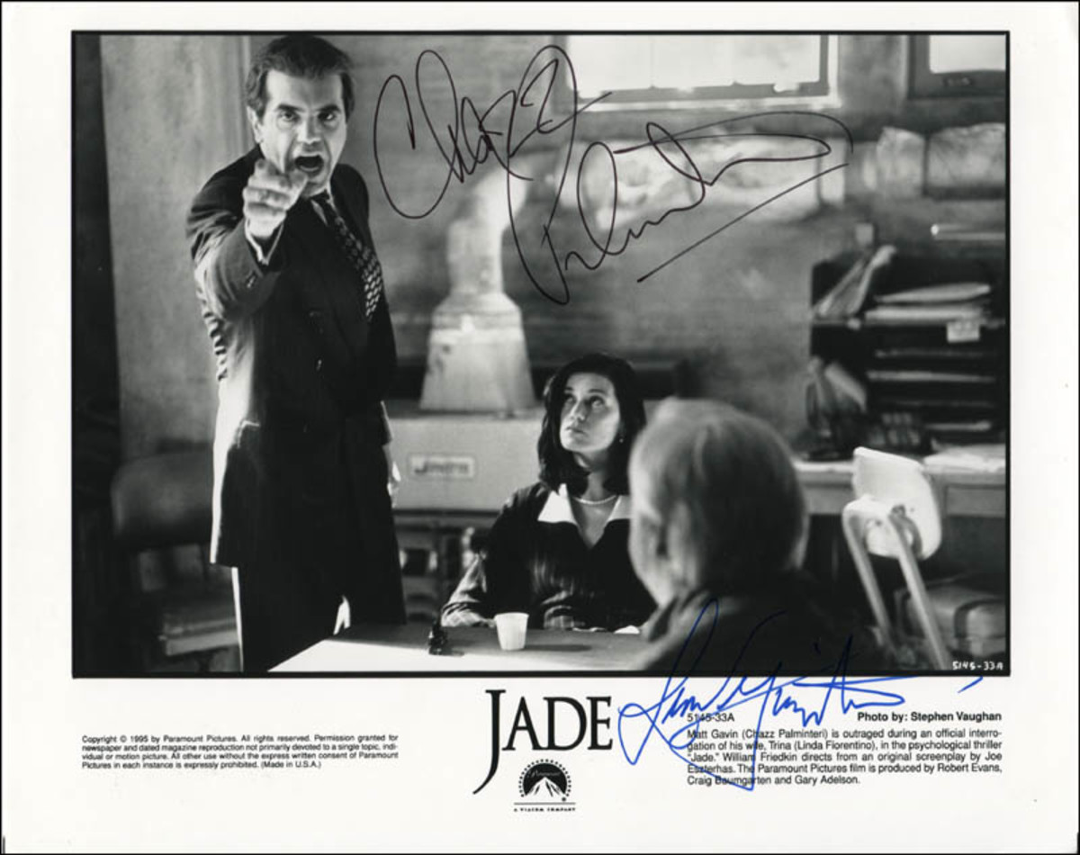 Chazz Palminteri with Linda Fiorentio (signed promotional lobby card)