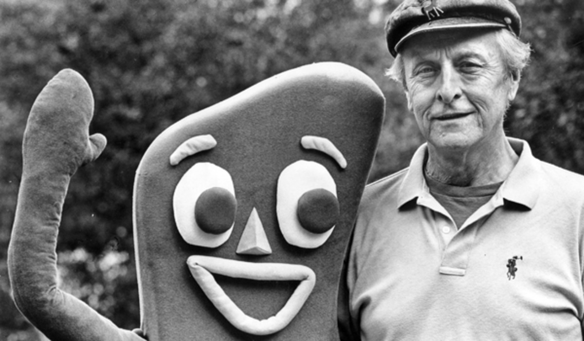 Gumby with Art Clokey late in his life