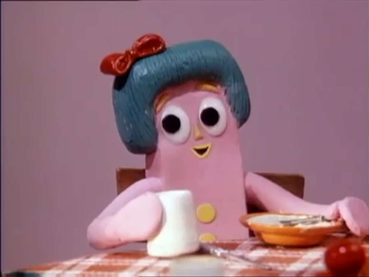 Gumby's sister Minga, a new addition for the 80's series