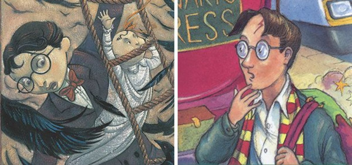 Klaus Baudelaire and Harry Potter compared.