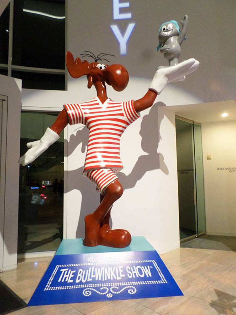 The fabled Bullwinkle statue, most recently seen on display at the Paley Center
