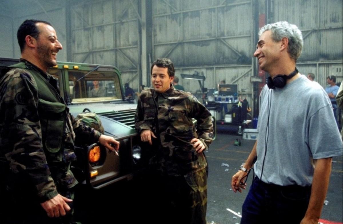 Jean Reno, Matthew Broderick & director Roland Emmerich