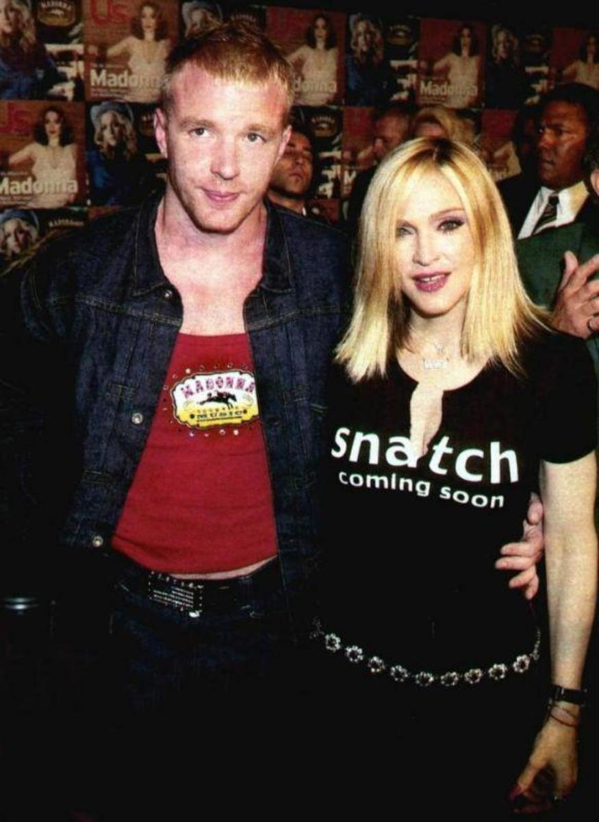 Guy Ritchie with his then-wife Madonna doing some cross-promotion