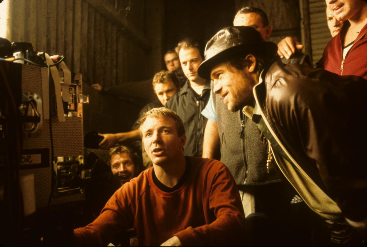Director Guy Ritchie with Brad Pitt