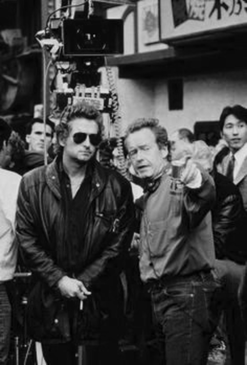 Michael Douglas & Ridley Scott on the set in Osaka