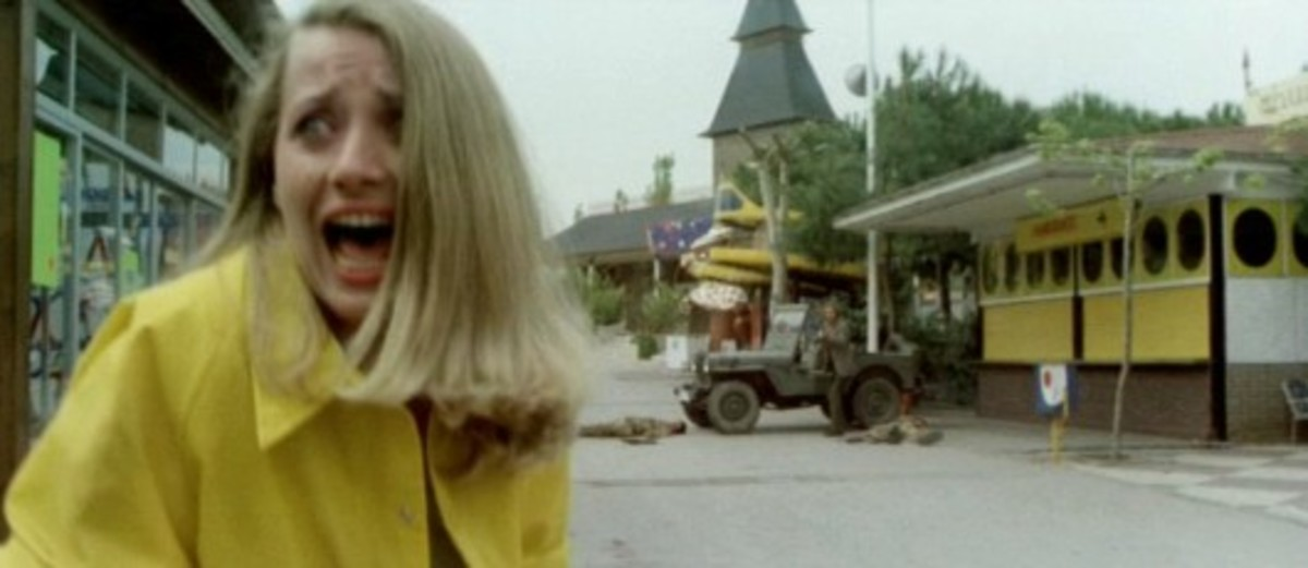 """""""Gosh, this park has everything! Corn dogs, bumper cars, a Ferris Wheel, and...AHHHHHH! ZOMBIES!"""""""