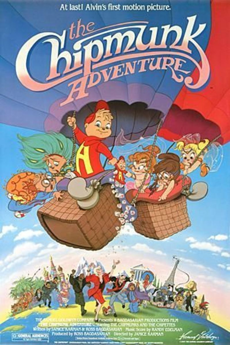 "The first Alvin & the Chipmunks movie, ""The Chipmunk Adventure"", released in 1987"
