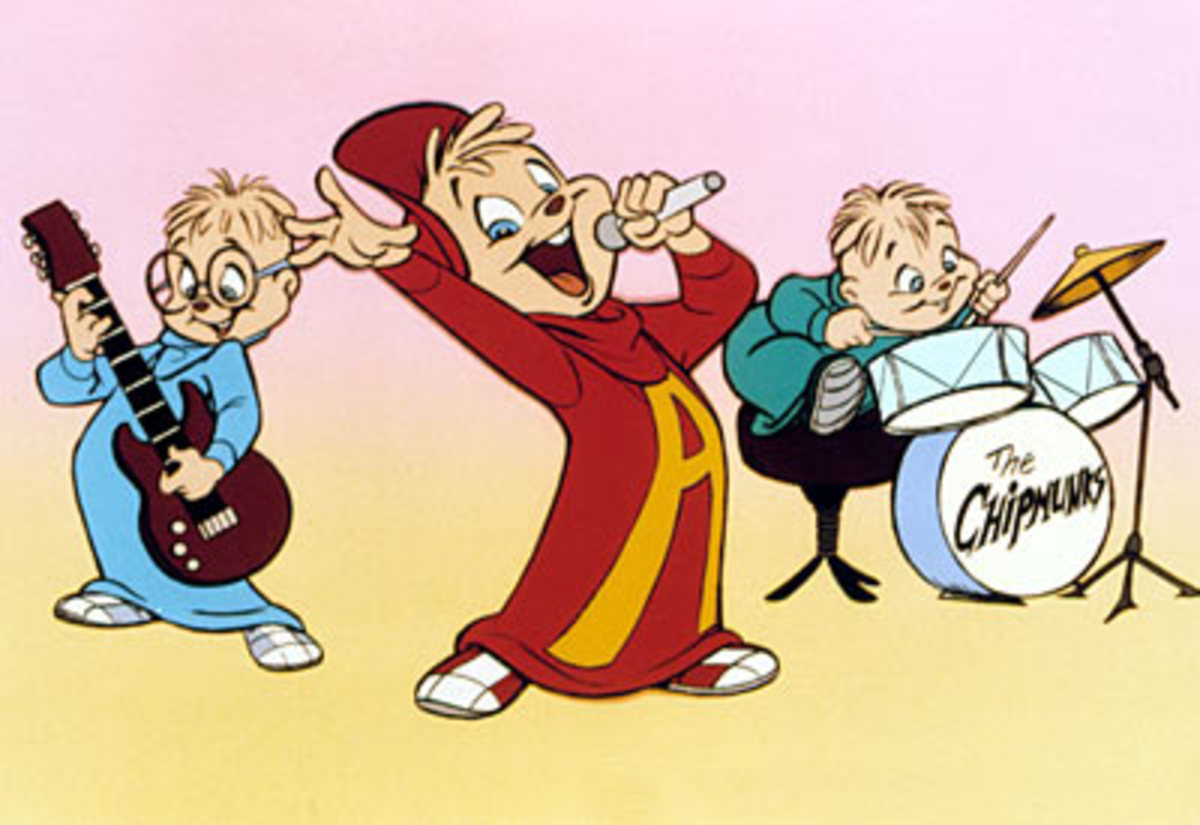 The Chipmunks as they appeared throughout the 80's and 90's