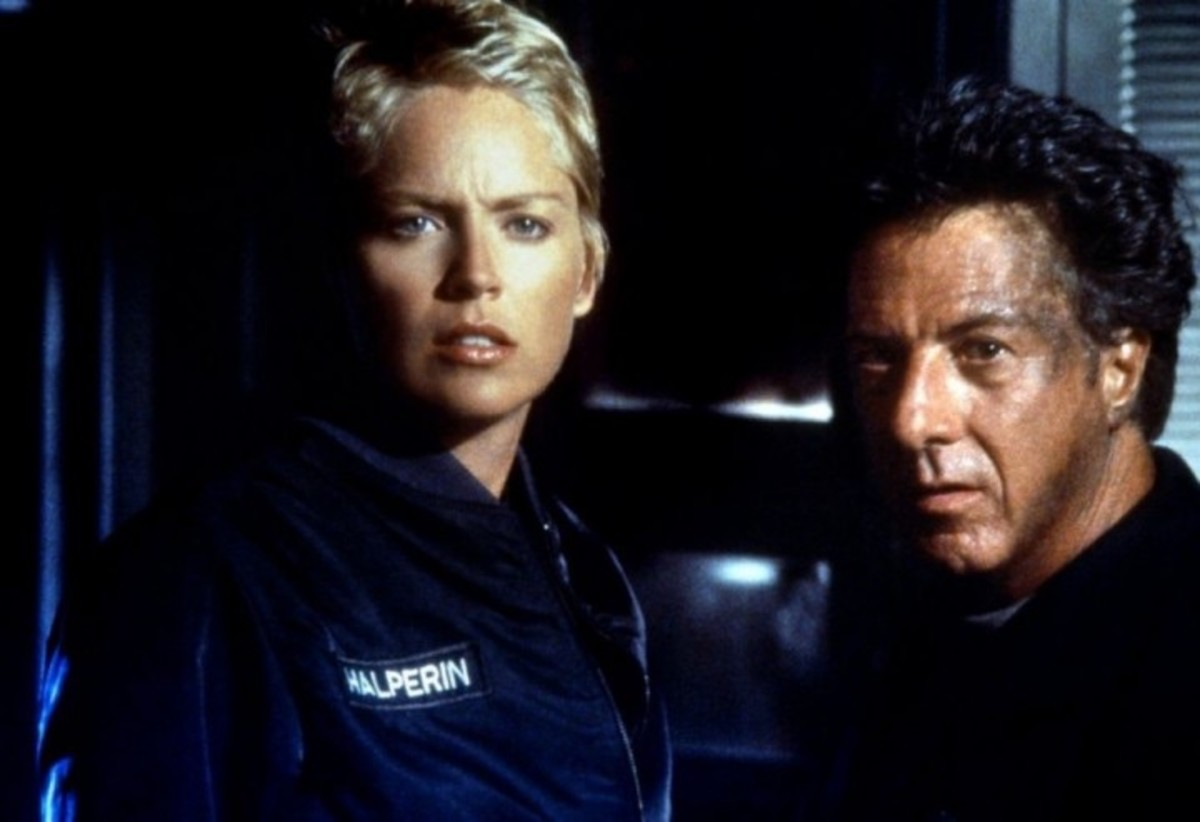Sharon Stone & Dustin Hoffman as Beth (the biologist) & Norman (the psychologist)