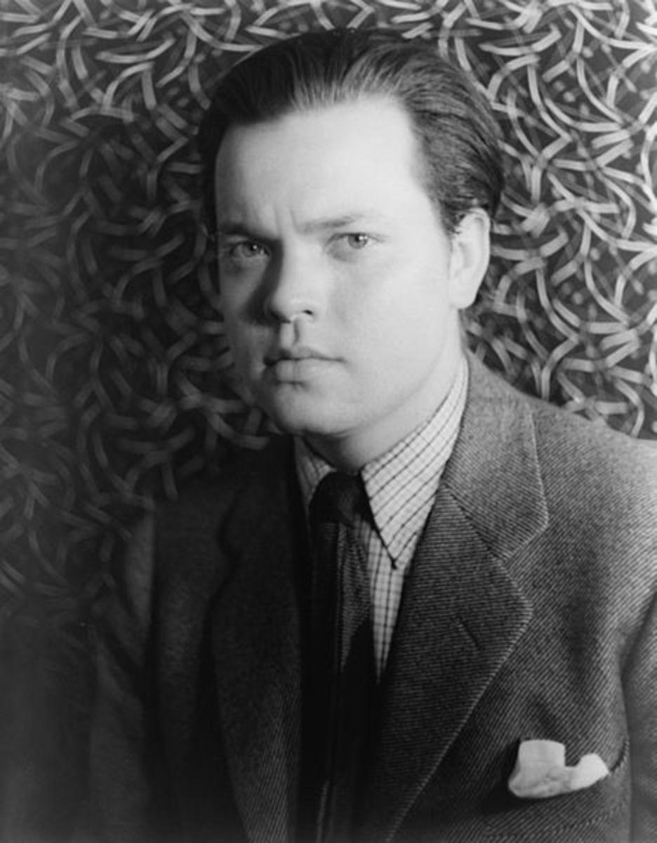 Orson Welles as photographed by Carl Van Vechten in 1937.