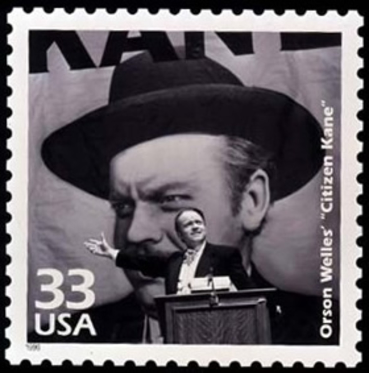 The U.S. Postal Service issued a commemorative stamp featuring Citizen Kane in 1999.