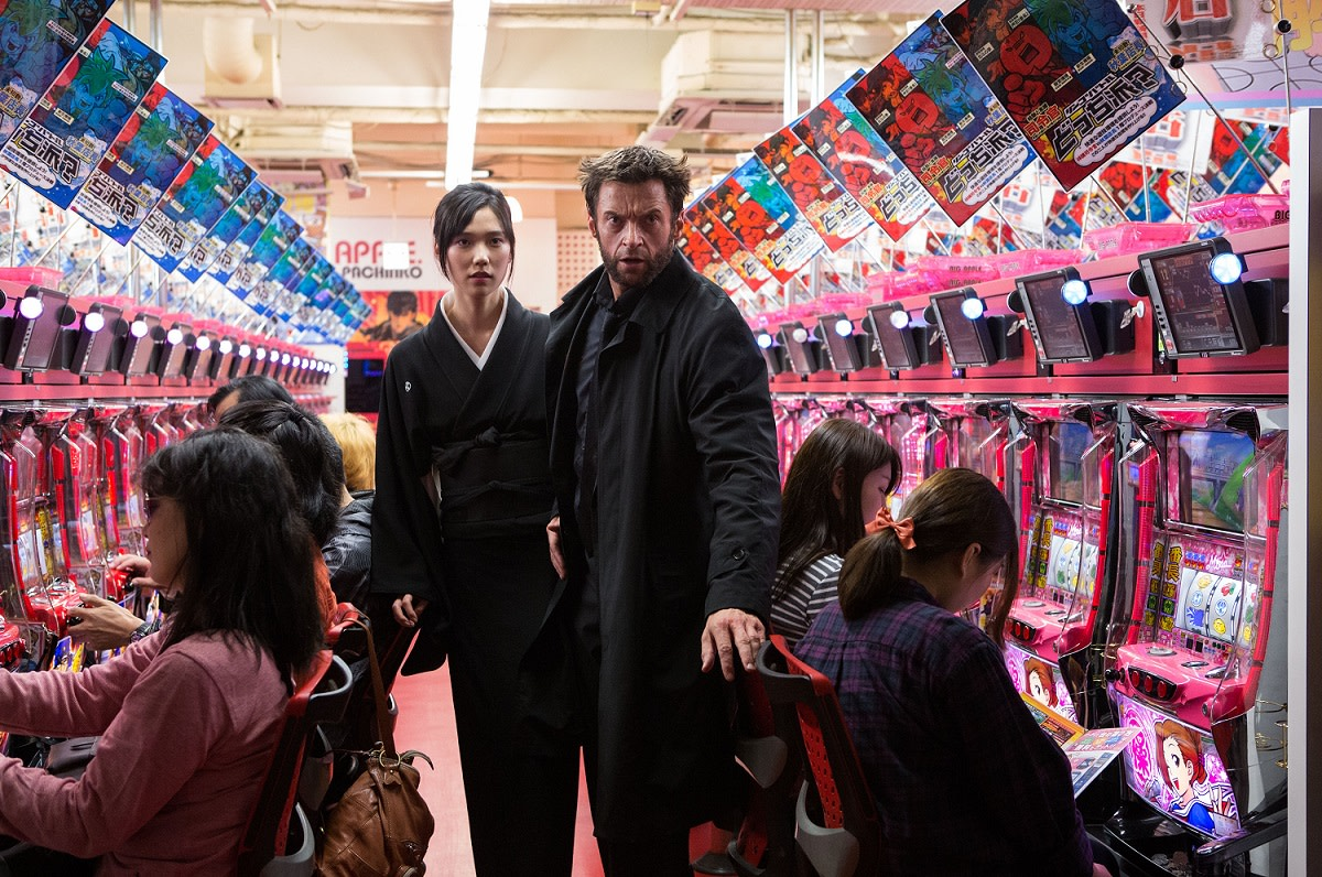 Just point Mariko (Tao Okamoto) and Wolverine (Hugh Jackman) in the direction of the pachinko machines.