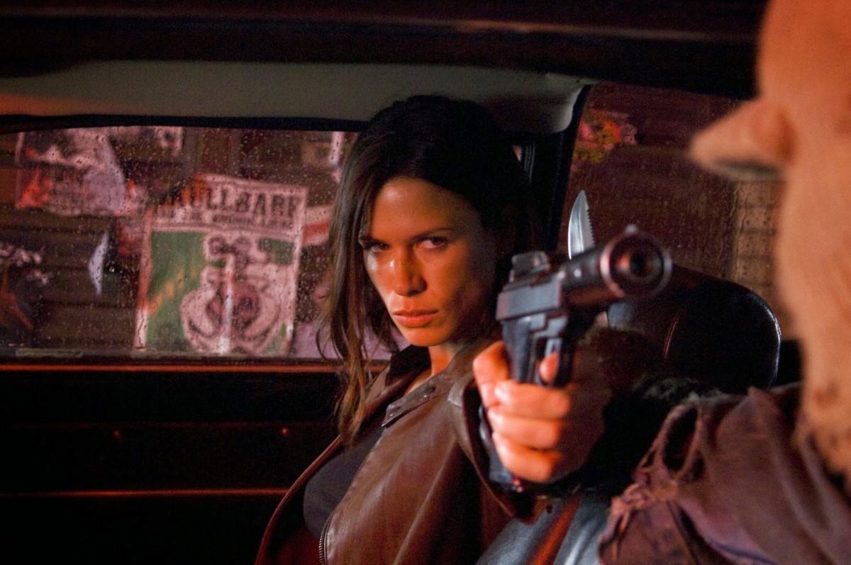 """Rhona Mitra as Eden Sinclair in, """"Doomsday."""""""