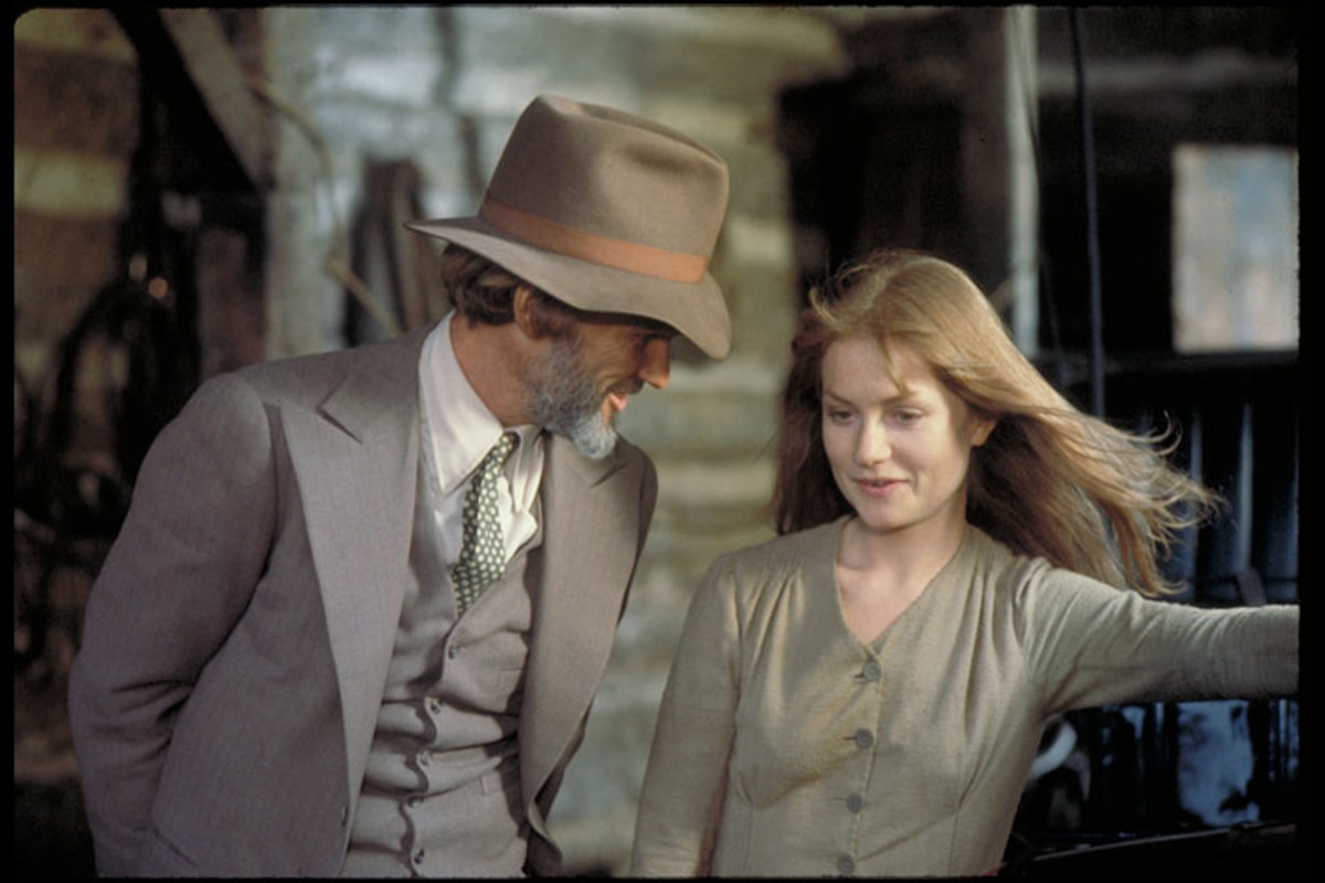 Kris Kristofferson as John Averill and Isabelle Huppert as Ella Watson