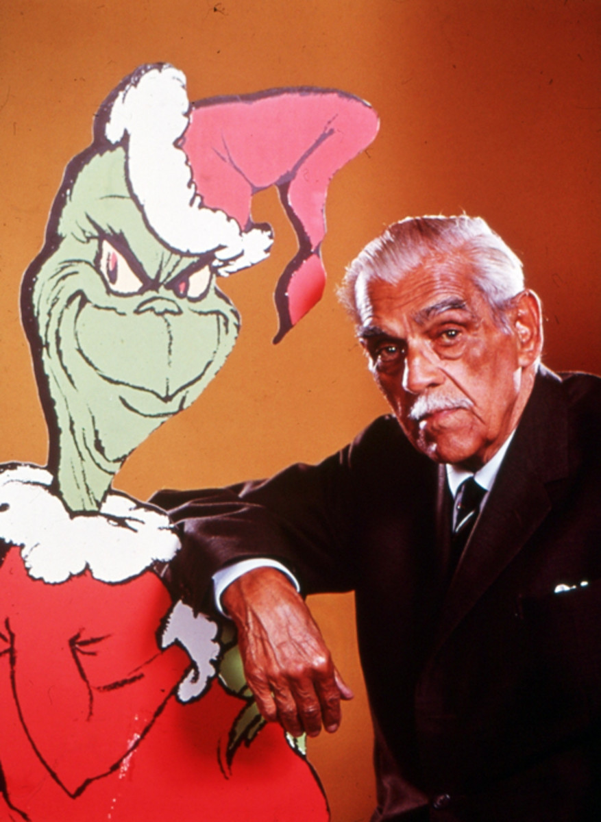 Boris Karloff played double roles as the narrator and the Grinch.
