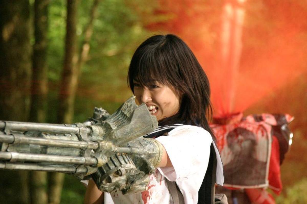"""Minase Yashiro as Ami Hyuga in, """"The Machine Girl."""""""